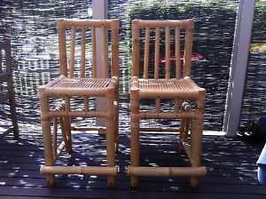 Bamboo Bar Stools x 2 Parklea Blacktown Area Preview
