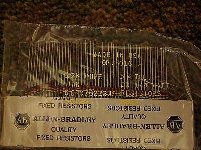 1000 Pcs Allen Bradley Fixed Resistors - 22k Ohms0.25 Watt - Fast Ship