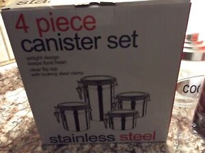 Brand New Stainless Steel Canister Set (2 Available)