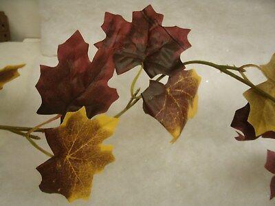 Fall Leaf Garland (Fall Thanksgiving Artificial Maple Leaf Mix Garland - Burgundy yellow - 12 feet)