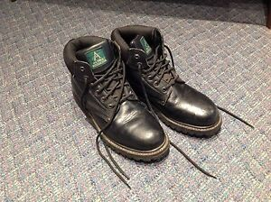 2 pairs of steel toe boots size 10