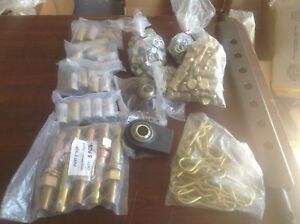 Assorted 3 point hitch parts for small tractor