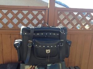 Leather Rear Touring Bag