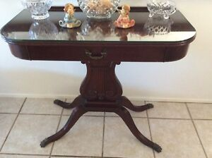 Mahogany Side Table With Claw Feet