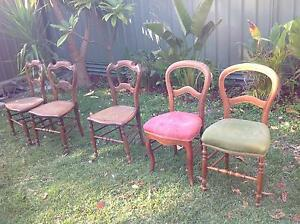 5 Antique old chairs Floreat Cambridge Area Preview