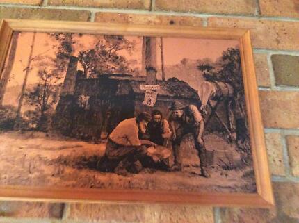 Copper plaque picture and little boy on copper Risdon Park Port Pirie City Preview