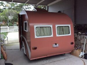 1954 Chesney caravan pink n white Noosa Heads Noosa Area Preview