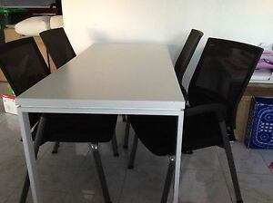 Black & White Dining table & Chairs Semaphore Park Charles Sturt Area Preview
