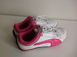 Puma Girls shoes, size US 4, 22 cm white/pink Clayfield Brisbane North East Preview