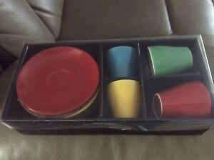 Espresso cups set, brand new