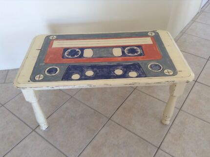 Retro hand painted coffee table