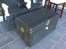 Cane wicker storage box in Black Ashmore Gold Coast City Preview
