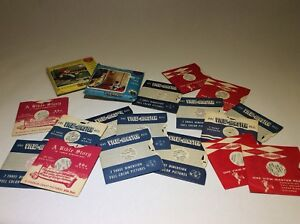 Collection de 21 roulettes Viewmaster