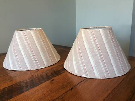 Pair new french style lamp shades stored never used