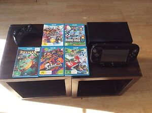 Nintendo Wii U 32gb black console + 5 games Stanmore Marrickville Area Preview