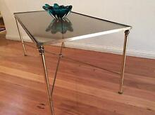 VINTAGE RETRO CHINOSIER METAL AND GLASS COFFEETABLE Seaforth Manly Area Preview