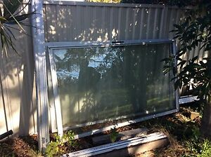 Aluminium sliding door with fly screen security Sans Souci Rockdale Area Preview