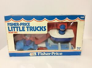 Fisher Price vintage Little People Boat Rig mint in the box
