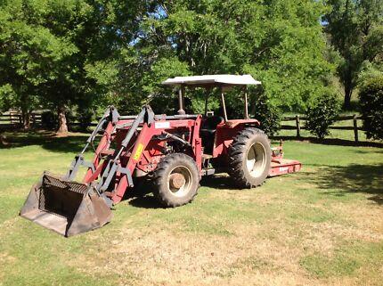 Massey Ferguson 154-4 Tractor Front End Loader Bucket & Forks