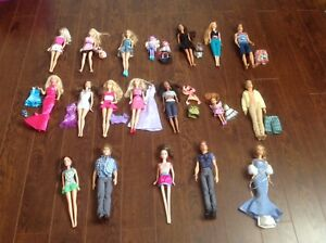 Barbies and clothing!!!!!!!!