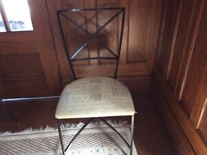 Wrought iron dining chairs