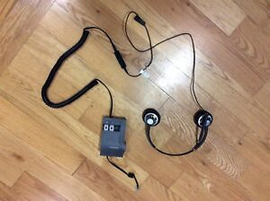 Plantronics headset and amplifier