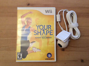 Wii game Your Shape Jenny McCarthy with cam
