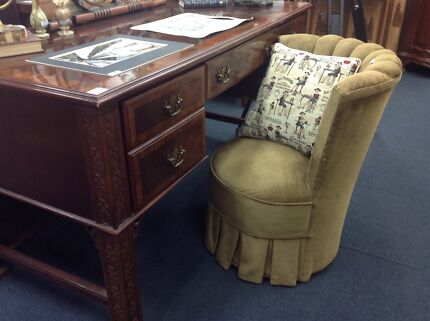 Vintage Bedroom Chair Inlaid Maghogany Desk And More