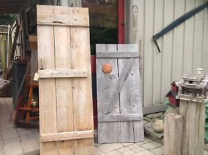 Rustic barn doors,,,$175  for both. NEW PRICE.