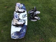 Wake board and spare pair of boots. Ulverstone Central Coast Preview