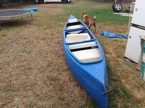 3 man poly canoe with 2 paddles Singleton Singleton Area Preview