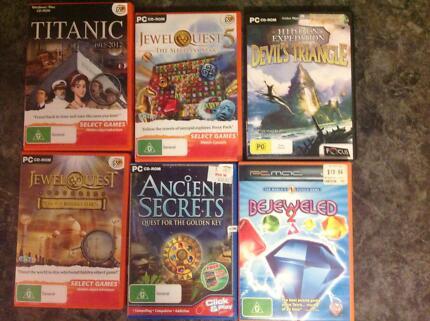 PC CD-ROM GAMES x 6