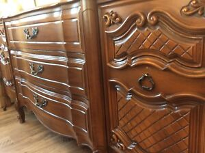 Vintage hardwood beautiful dresser/buffet FRENCH PROVINCIAL