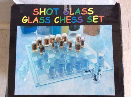 Shot Glass - Glass Chess Set