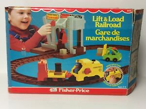 Fisher Price vintage Little People Lift and Load Railroad