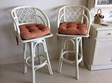 A pair of Vintage Retro Bamboo Cane Bar Stools that are in Good V Camden Area Preview