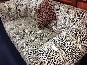 Stunning animal print 2 seater sofa chesterfield Ashmore Gold Coast City Preview