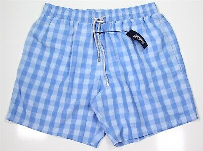 NWT New VILEBREQUIN $250 Morio Model Blue Checkered Trunks Bathing Suit XXXL
