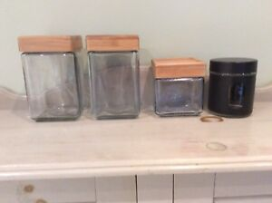 Glass Storage Canisters!  Price: $5