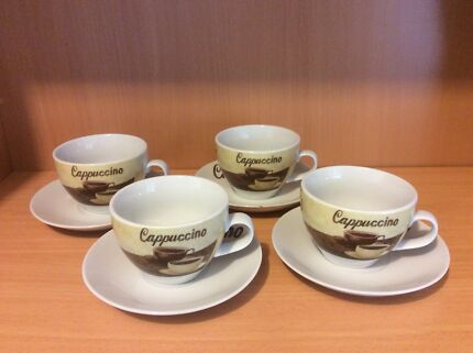 'Coffee Set' Cappuccino cup and saucer set of 4.  $5