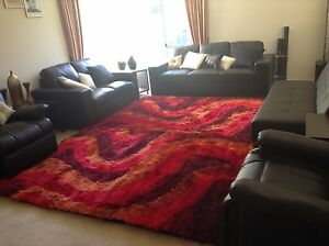 Brand New Designer Shaggy Rug 160cm X 230cm. Red Color Narre Warren South Casey Area Preview