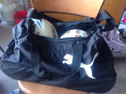 Sports Bag and footballs