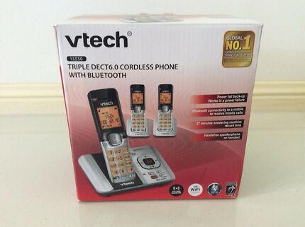 Cordless phone with Bluetooth - triple dect 6.0