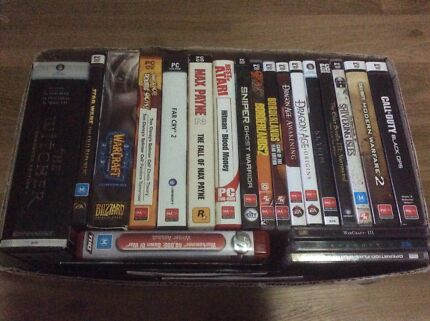 Box of PC Games - 25 Games for $100 or $10 each