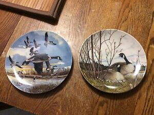 """Collector plate series """"Wings upon the Wind"""" Canada Geese"""