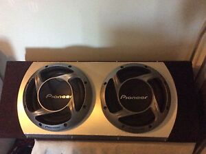 """Twin Pioneer 12"""" subwoofer 1000w + Pioneer amp 800w Port Melbourne Port Phillip Preview"""