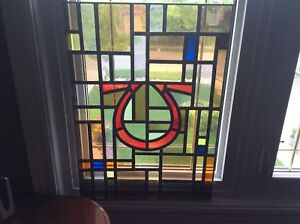 Antique Stain Glass Window (Omega)
