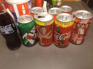 Canettes bouteilles Coca Cola
