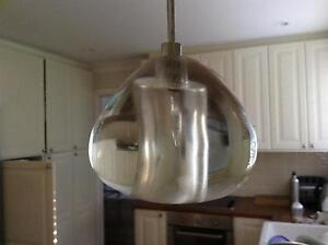2x Glass pendant lights Glenorie The Hills District Preview