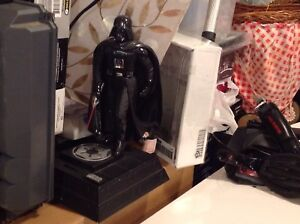 Star Wars figures  3 different coin banks and clock